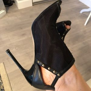 Zara leather/mesh high heels sandals
